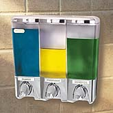 Clear Choice Chrome Three Button Dispenser - Product Image