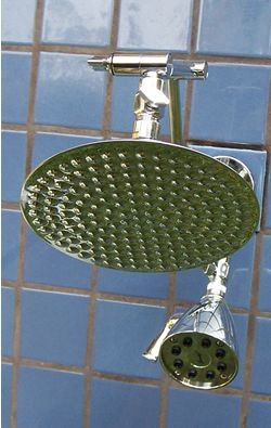 Double 8 Inch Rainshower and 8 Jet - Product Image