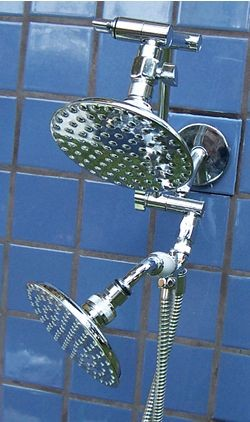 Double 5 1/4 Inch Rainshower and 5 1/4 Inch Handheld Rainshower - Product Image
