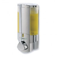 AVIVA Dispenser I Chrome with Translucent Bottles - Product Image