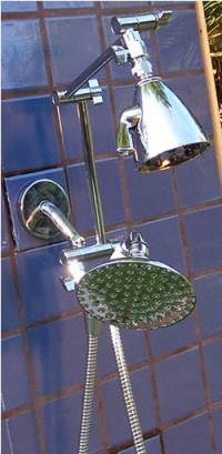 Double 8 Jet and 5 1/4 Inch Rainshower Handheld - Product Image