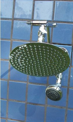 Double 8 Inch Rainshower and Super 5 Blue - Product Image