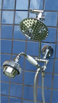 Double 5 1/4 Inch Rainshower and Super 5 Handheld - Product Image