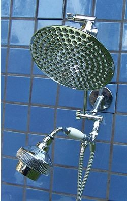 Double 8 Inch Rainshower and Super 5 Handheld - Product Image