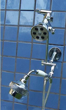 Double 6 Jet and 5 1/4 Inch Rainshower Handheld - Product Image
