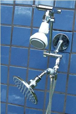 Double FSW and 5 1/4 Inch Rainshower Handheld - Product Image