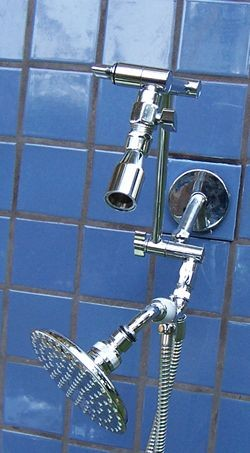 "Doulbe Varipulse and 5 1/4"" Rainshower Handheld - Product Image"