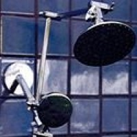 "Double Shower Head with 5 1/4"" Rainshower and ADS - Product Image"
