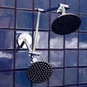 "Double Shower Head with 5 1/4"" Rainshower and 5 1/4"" Rainshower - Product Image"