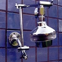 Double Shower Head with Super 5 on Top - Product Image