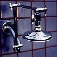 "Double Shower Head with 5 1/4"" Rainshower on Top - Product Image"
