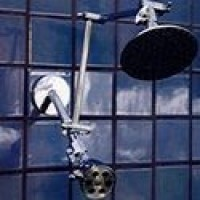 Double 5 1/4 Inch Rainshower and 6 Jet Shower - Product Image