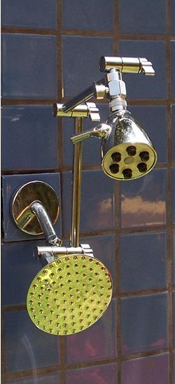 Double 6 Jet and 5 1/4 Inch Rainshower - Product Image