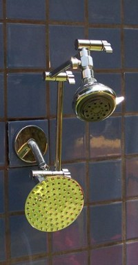 "Double Super 5 Blue and 5 1/4"" Rainshower - Product Image"