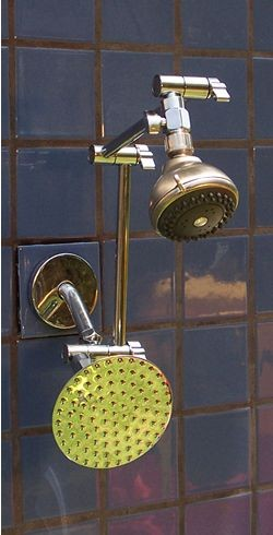 "Double Super 5 Grey and 5 1/4"" Rainshower - Product Image"