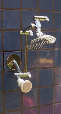 Double 5 1/4 Inch Rainshower and FSW - Product Image