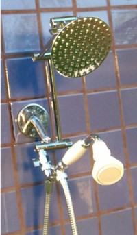 Double 5 1/4 Inch Rainshower and FSW Handheld - Product Image