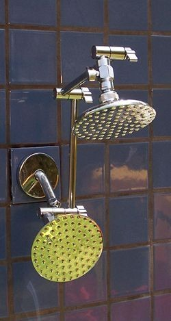 Double 5 1/4 Inch Rainshower and 8 Inch Rainshower - Product Image