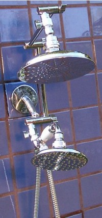 Double 8 Inch and 5 1/4 Inch Rainshower Handheld - Product Image