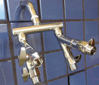Quad Shower Manifold with Flow Controls - Product Image